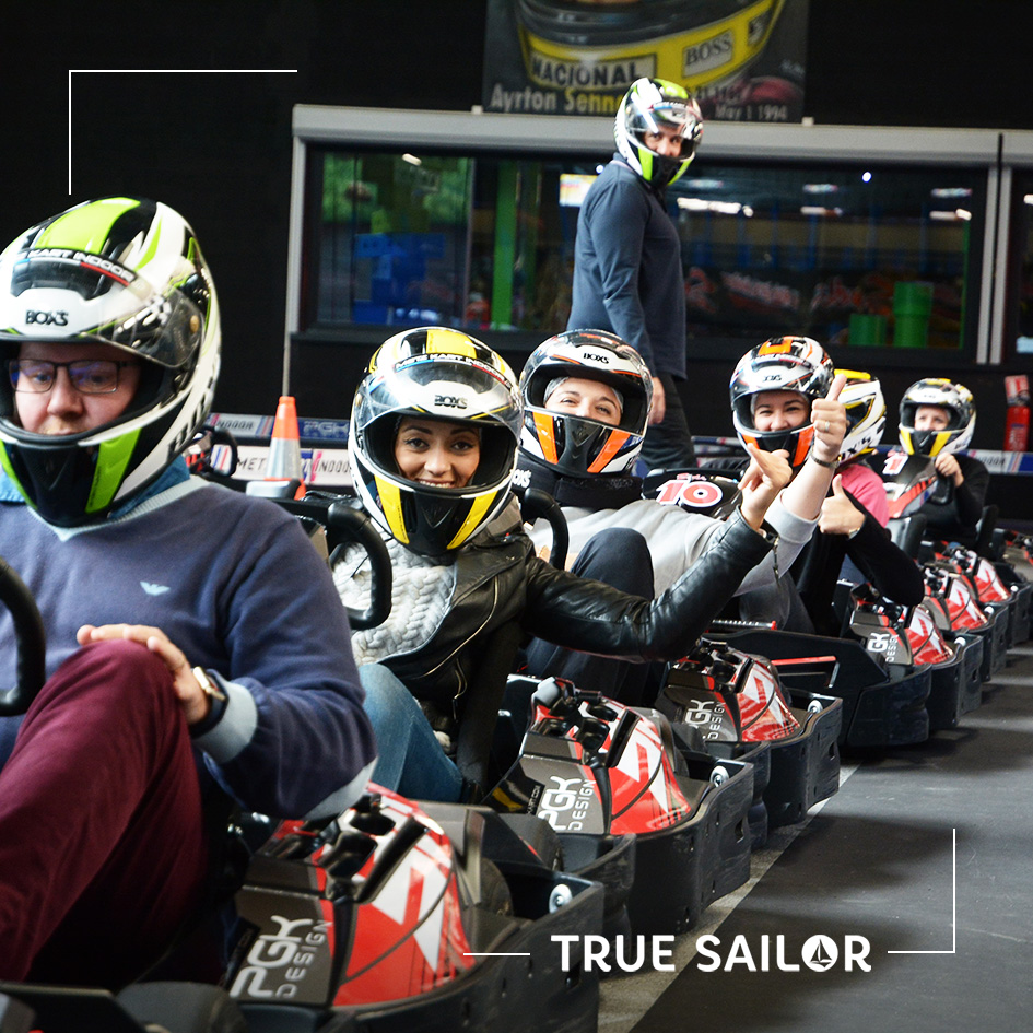 Challenge d'équipe team building karting