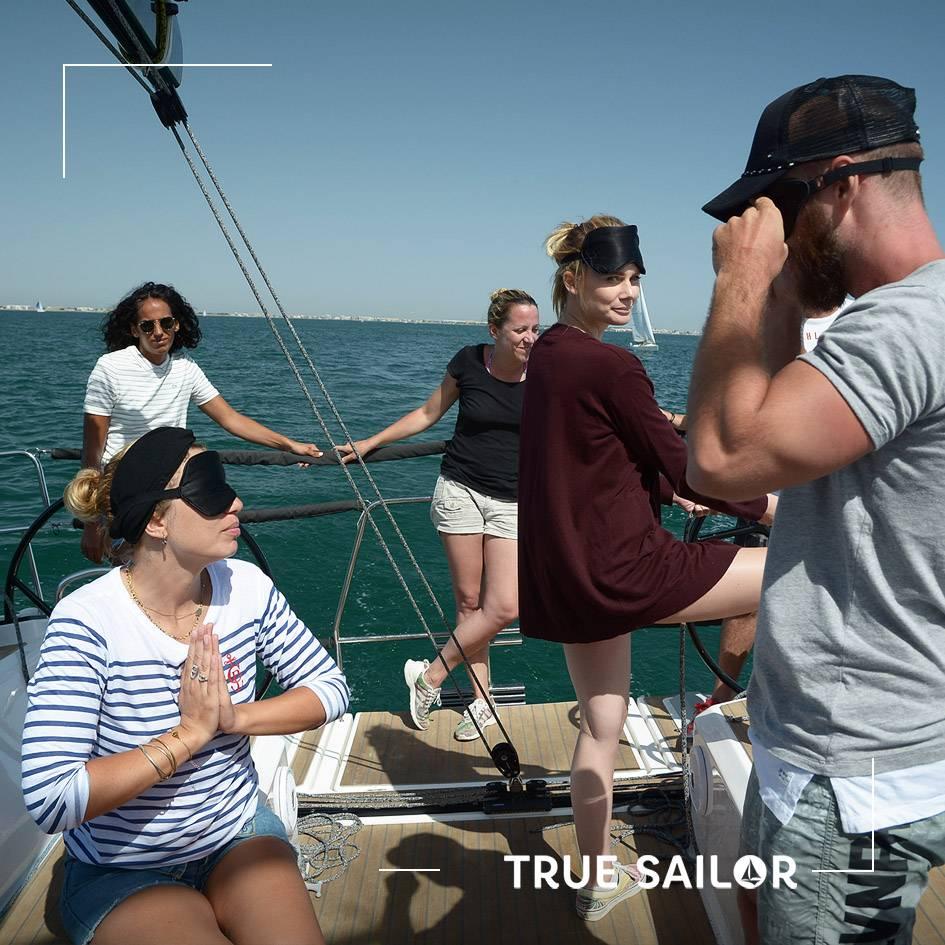 Régate team building en voilier équipiers