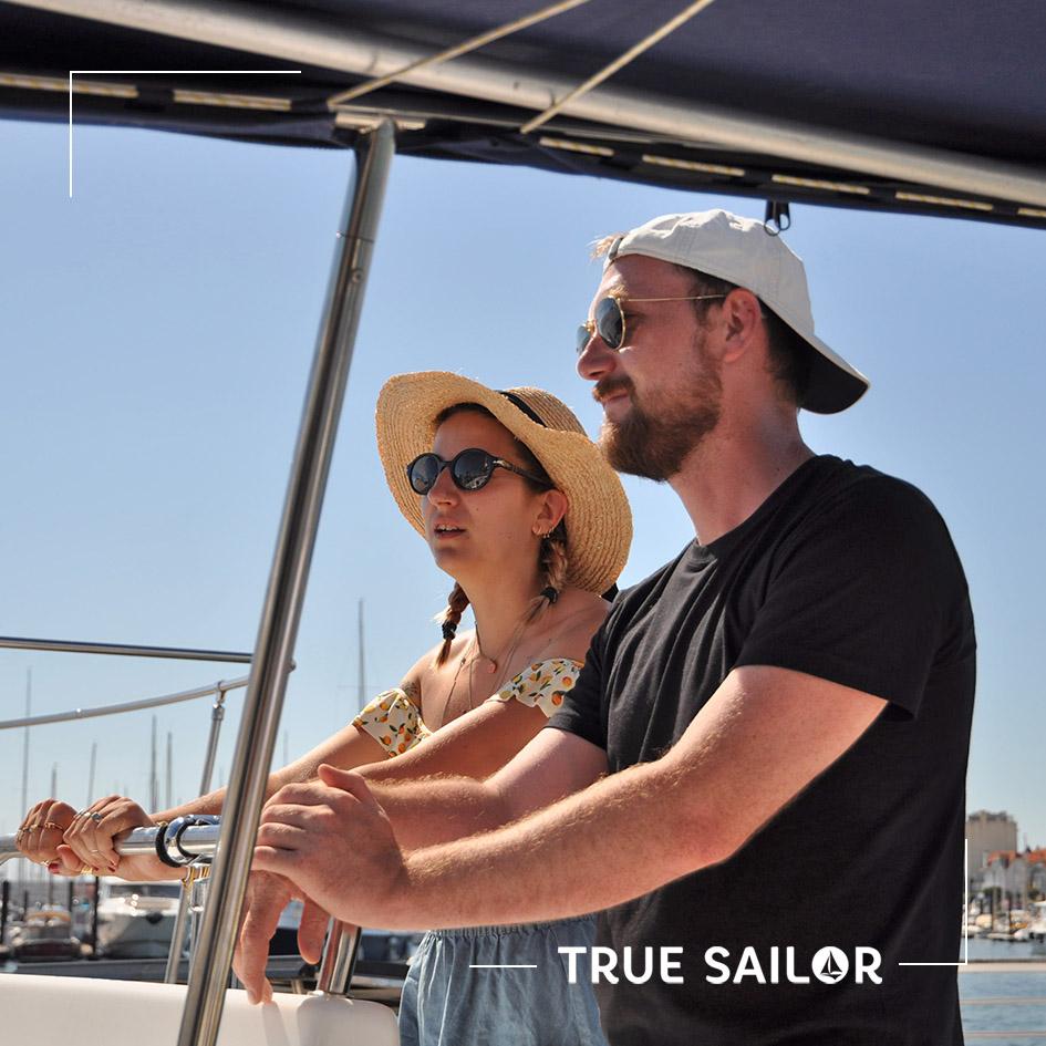 Séminaire sur un catamaran à Arcachon