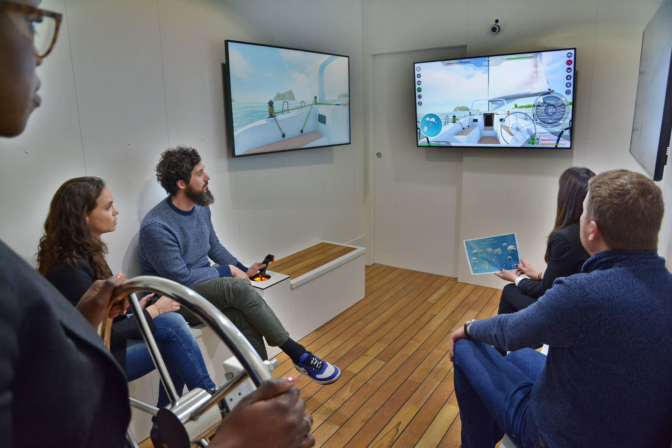 Photo du simulateur experiiience par True Sailor