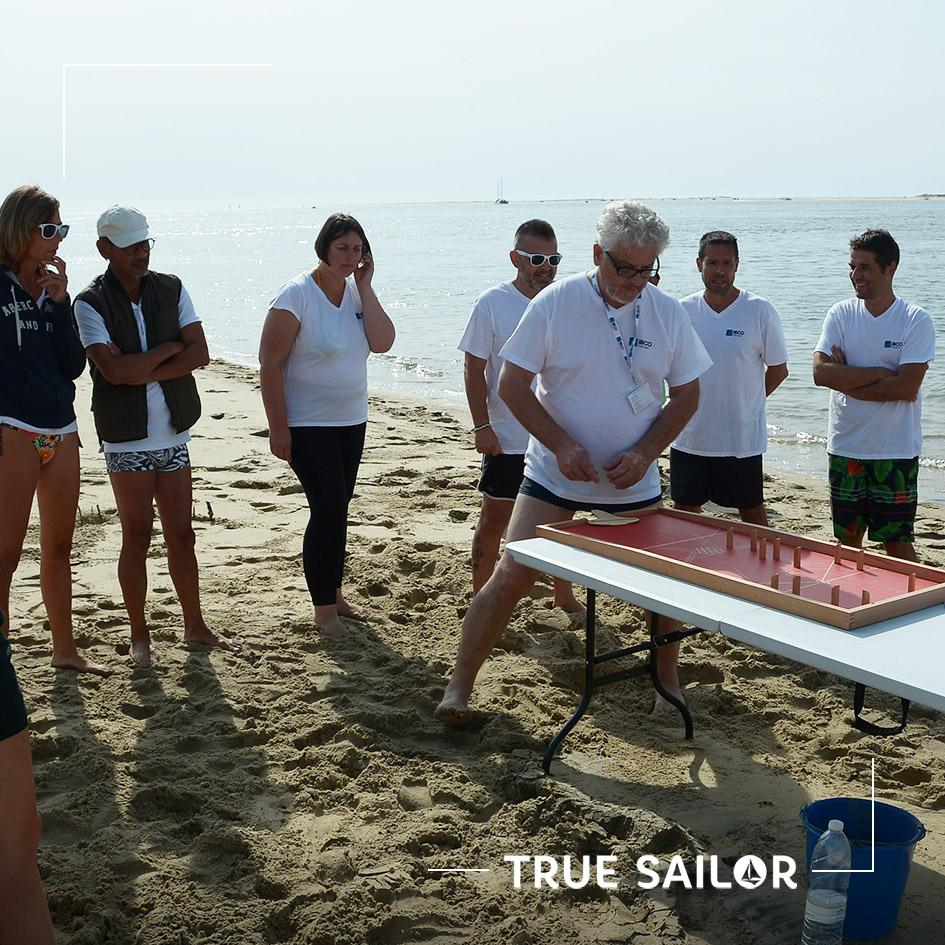 Séminaire jeu de table à la plage