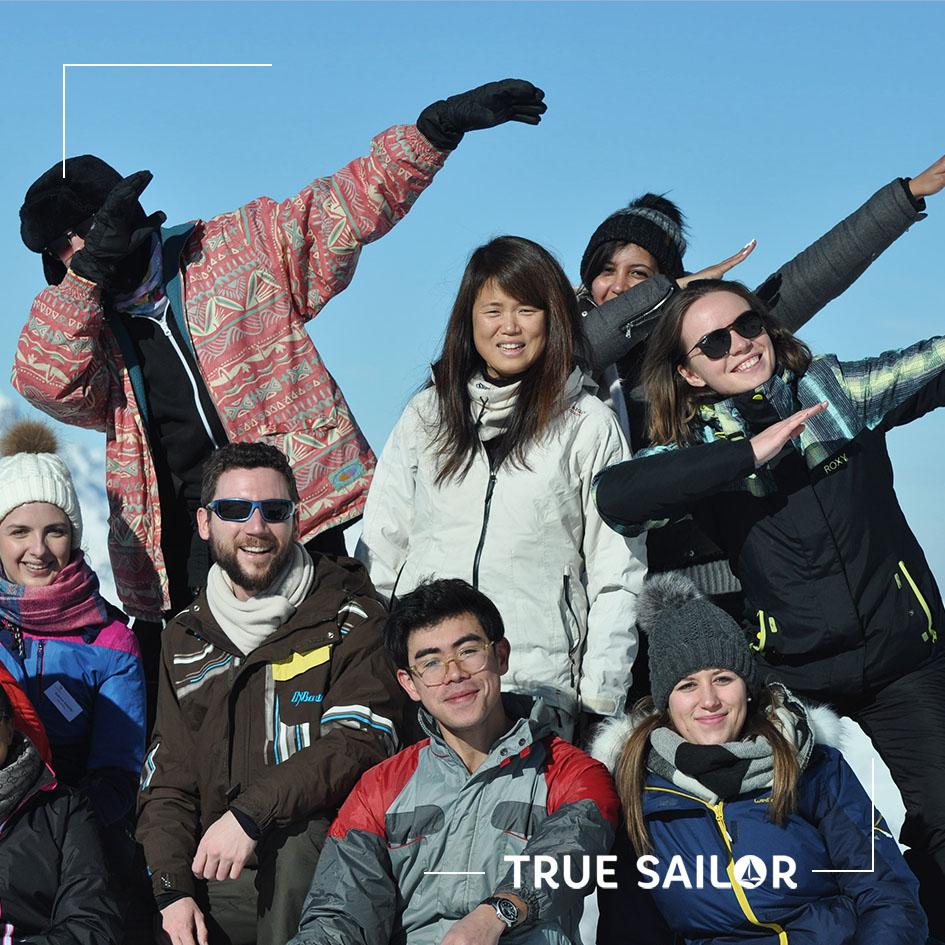 Photo originale séminaire d'équipe Alpes