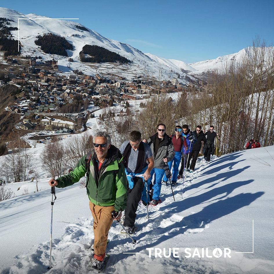 Visuel séminaire d'équipe à la montage neige