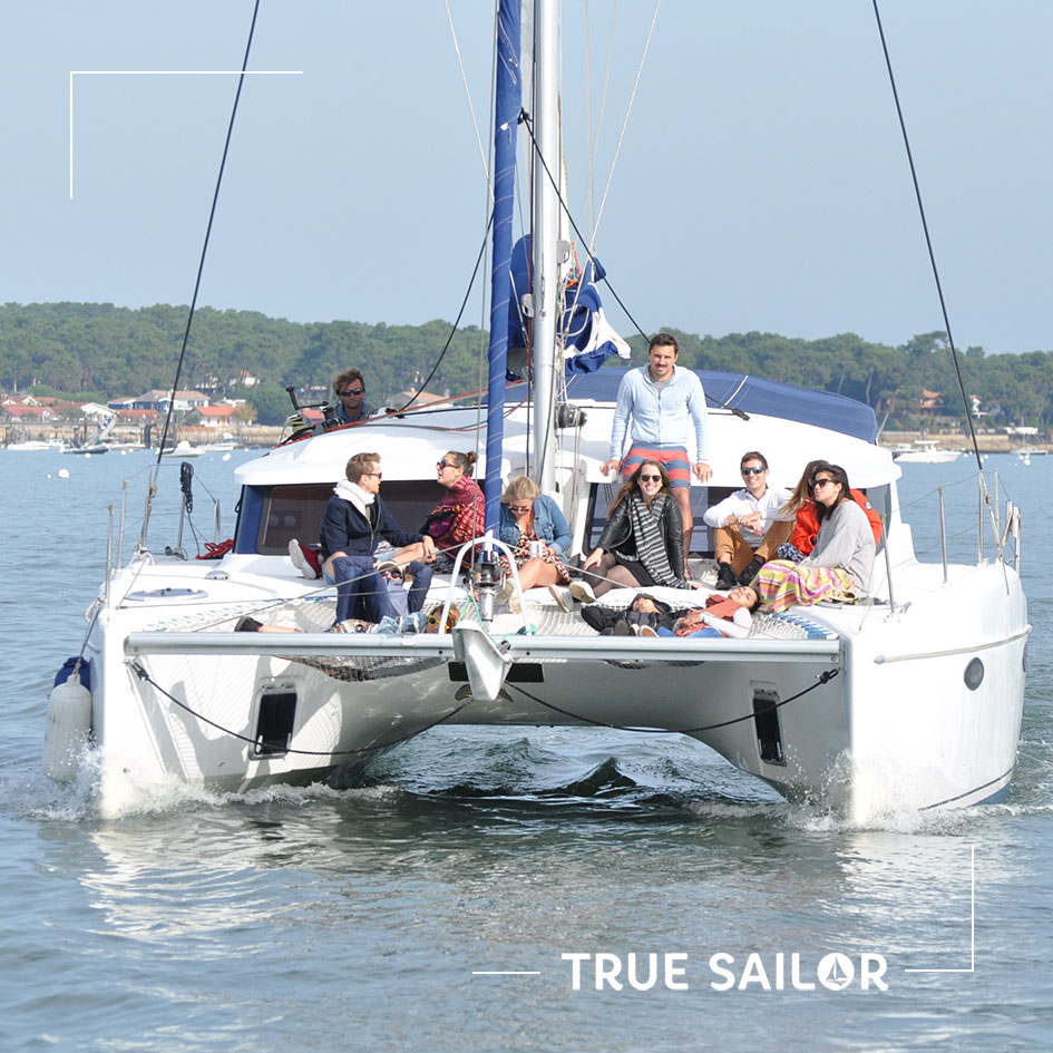Team building Bassin d'Arcachon catamaran