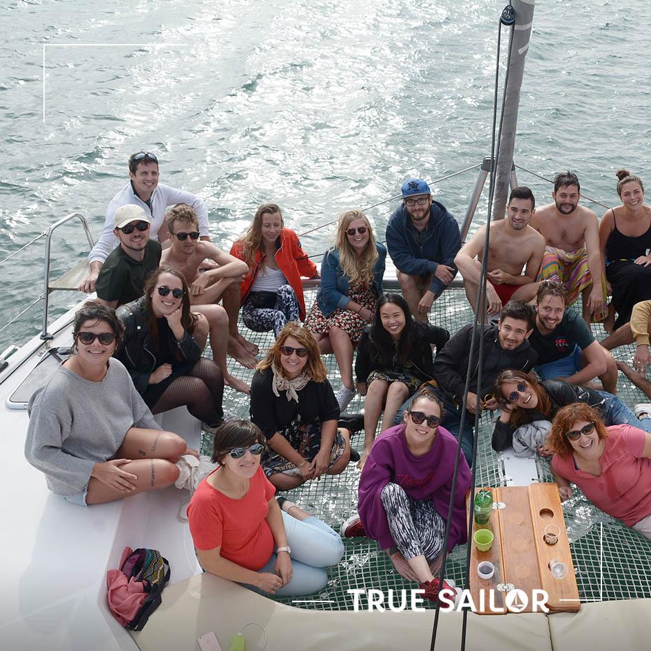team Building d'équipe en catamaran bassin Arcachon