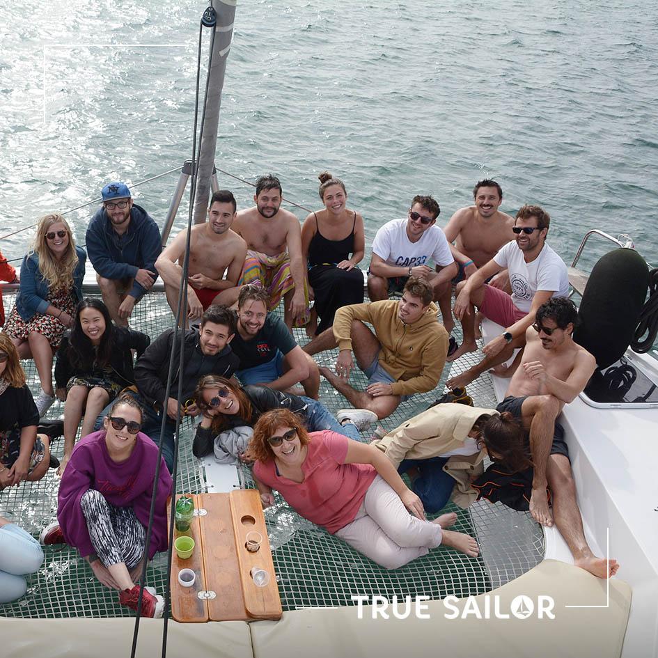 Team Building d'équipe en voilier catamaran Arcachon