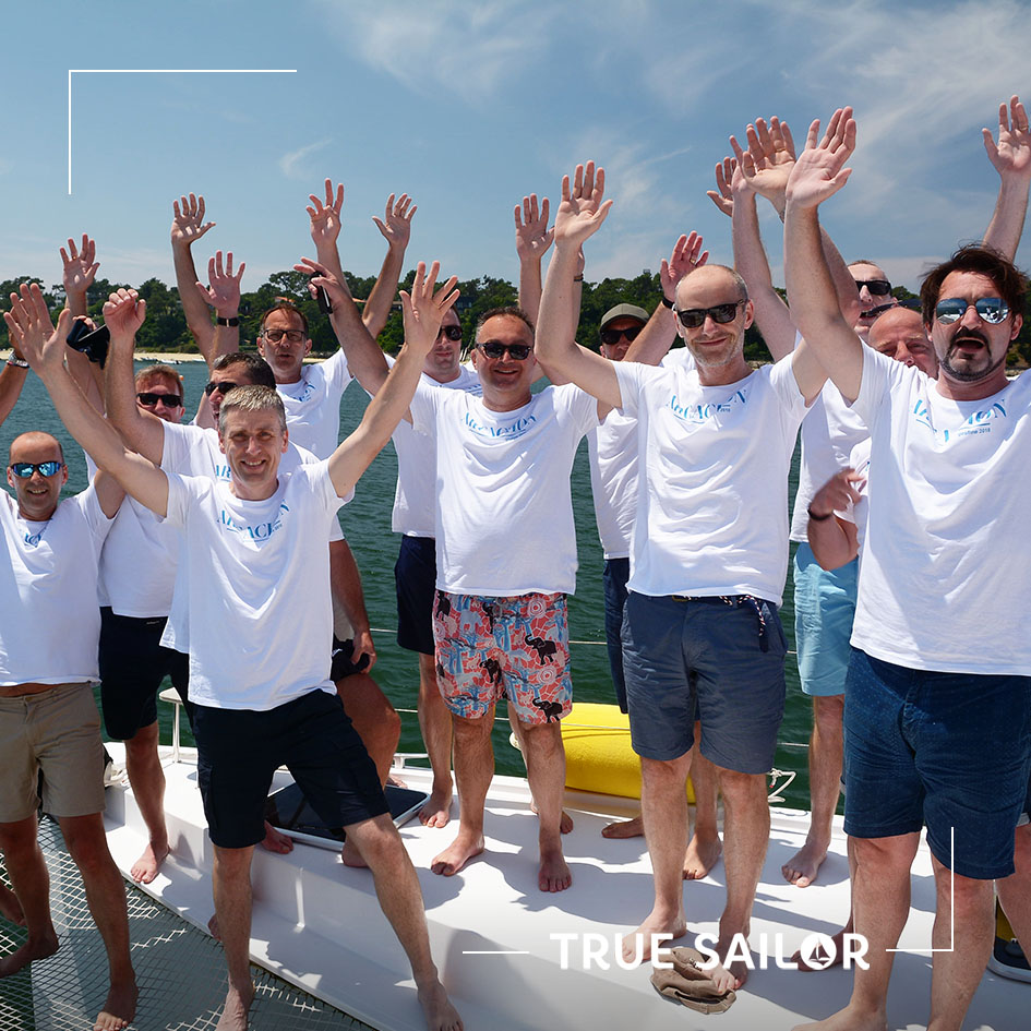 Visuel team Building voilier catamaran